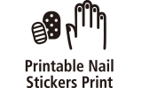 Printable nail stickers